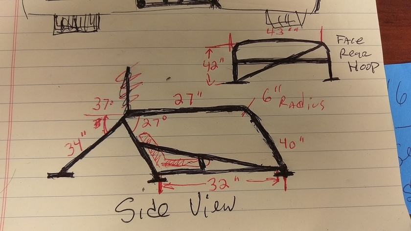Tiger Roll Cage Sketches