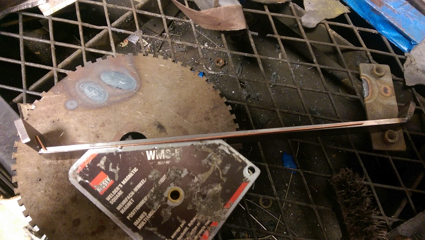 Welding fan bracket
