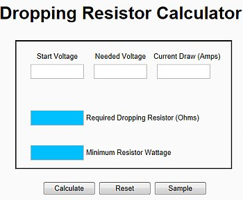 automotive calculators gtsparkplugs rh gtsparkplugs com Resistor Color Code Calculator LED Resistor Calculator Series