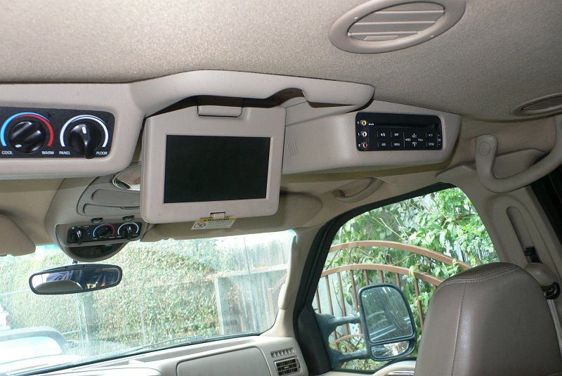 ford expedition dvd player removal