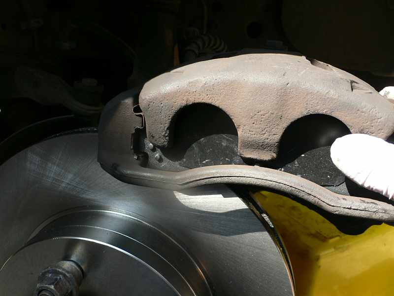 Install Brake Caliper on Rotor - Ford Explorer