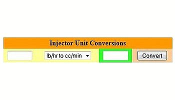 Fuel Injector Units Conversion Calculator