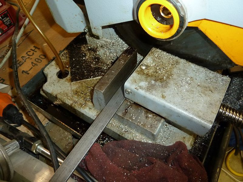 Cold Saw Chopping Metal