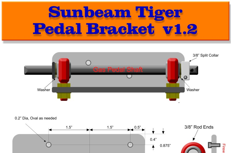 Sunbeam Tiger Pedal Linkage Upgrade