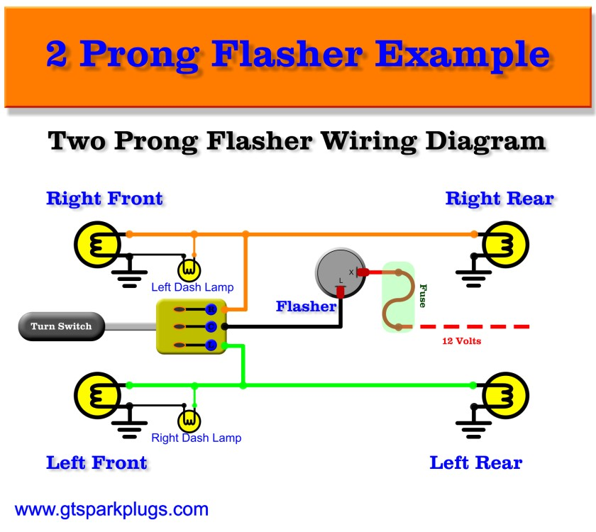 Automotive flashers gtsparkplugs 2 terminal flasher wiring diagram ccuart